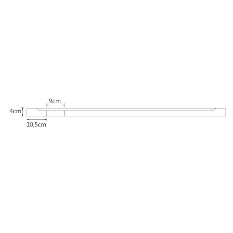 Brodzik czworokątny, ABS, 80 x 100 cm