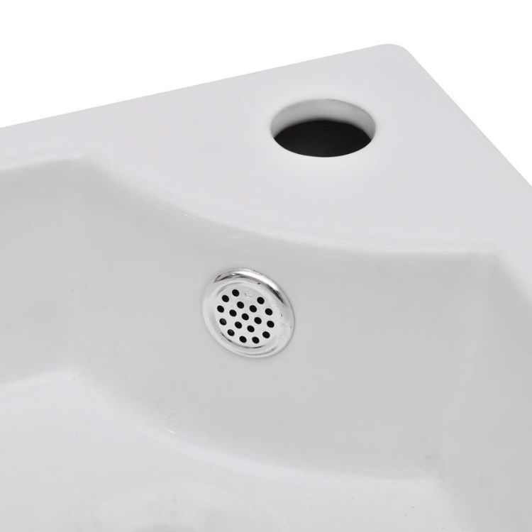 Umywalka z przelewem, 45 x 32 x 12,5 cm, biała