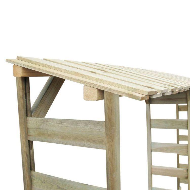 Budka na drewno opałowe, impregnowana sosna FSC, 300 x 44 x 176 cm