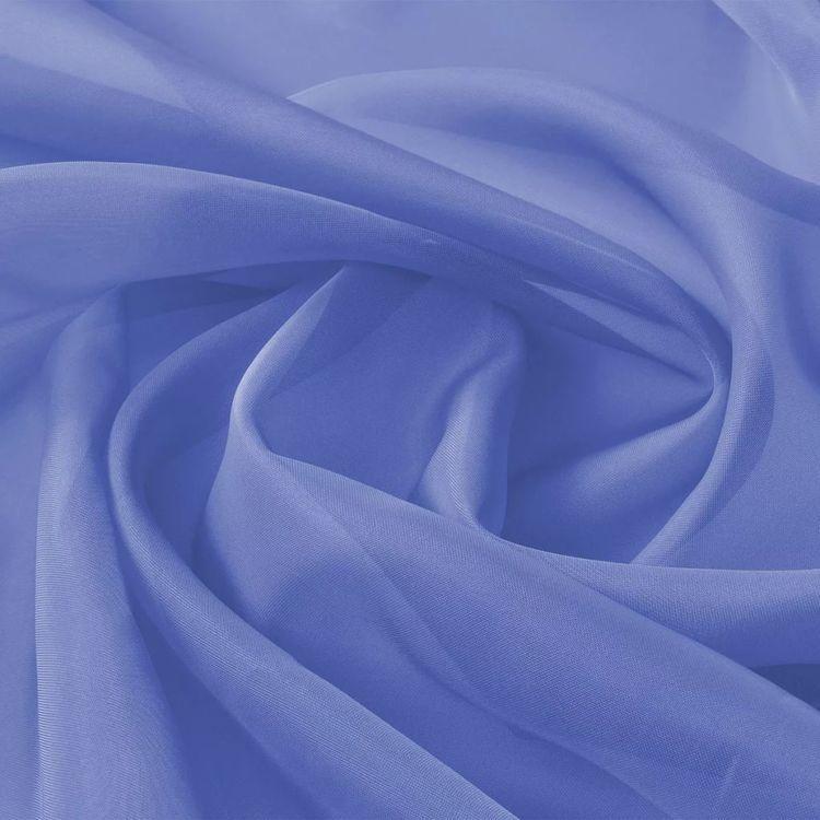Tkanina woal 1,45 x 20 m, niebieska