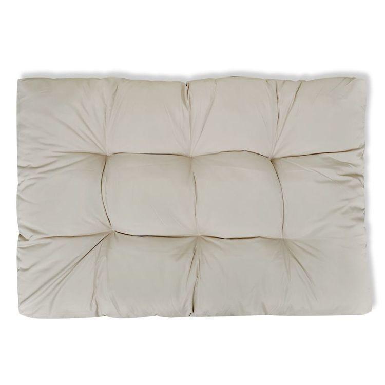 Poduszka do siedzenia 120 x 80 x 10 cm kolor białego piasku