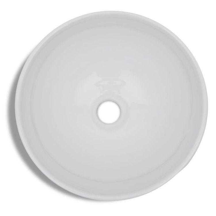 Ceramiczna umywalka okrągła biała