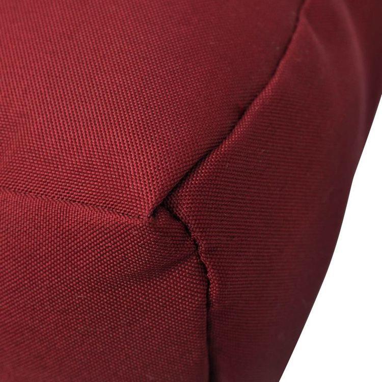 Tapicerowana poduszka do siedzenia, czerwone wino 80 x 80 x 10 cm