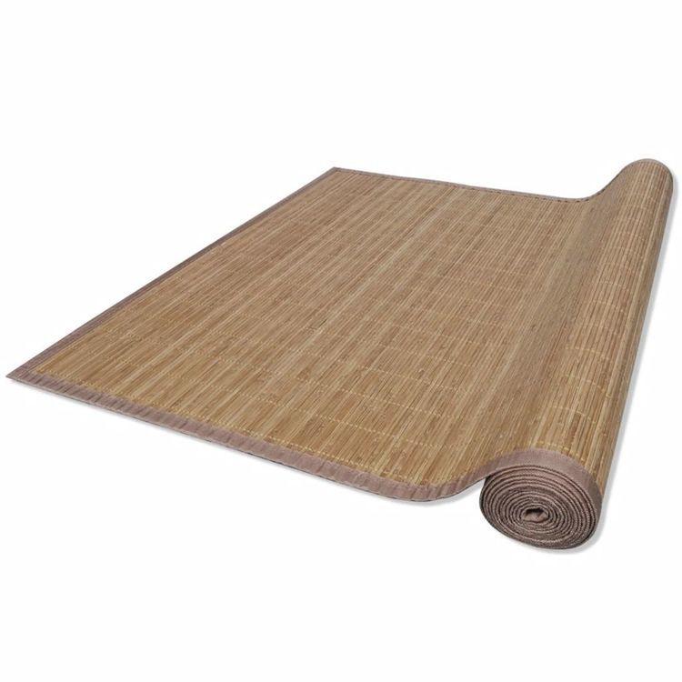 Brązowy, prostokątny dywan bambusowy, 120 x 180 cm