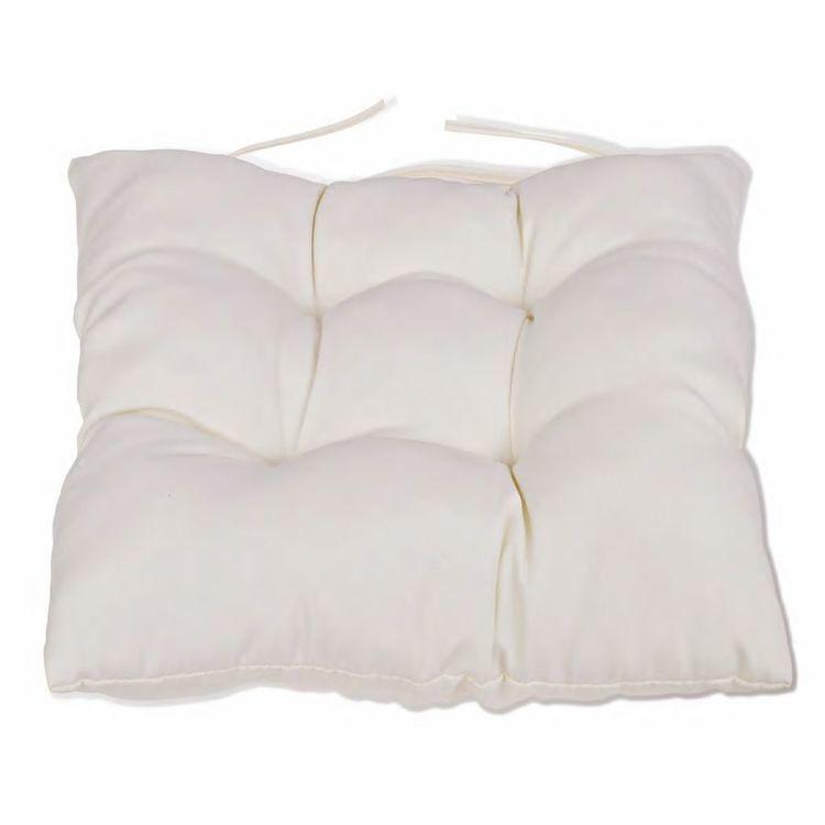 Poduszki na krzesła, 4 szt., 40x40x8 cm, kremowe