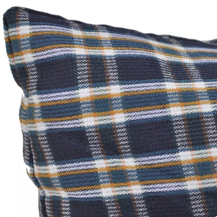 4-cz. zestaw poduszek na huśtawkę, niebiesko-biały, tkanina