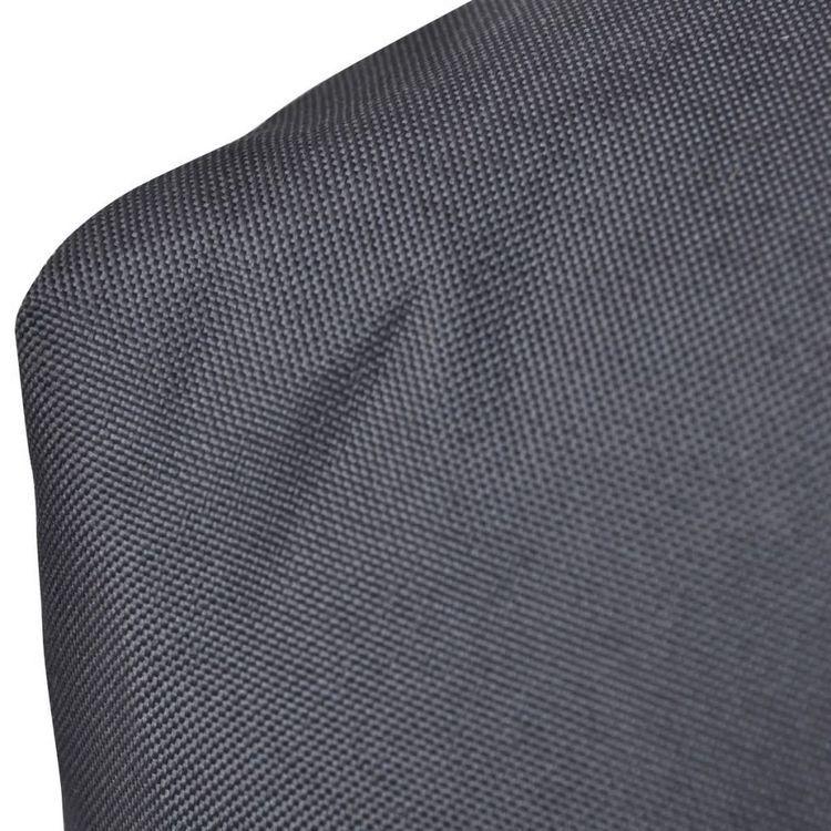 Tapicerowana szara poduszka na oparcie 60 x 40 x 20 cm
