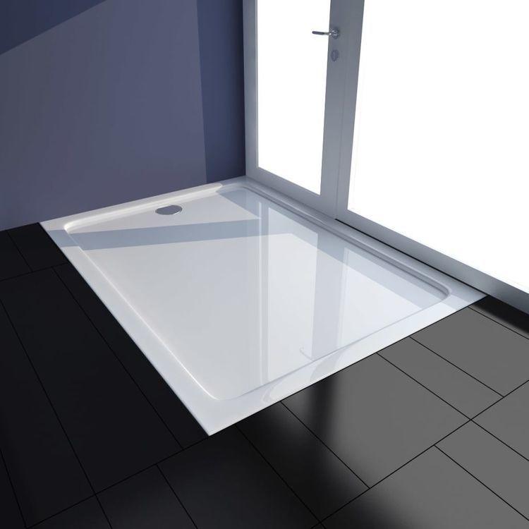 Brodzik prysznicowy prostokątny, ABS, biały, 80 x 110 cm