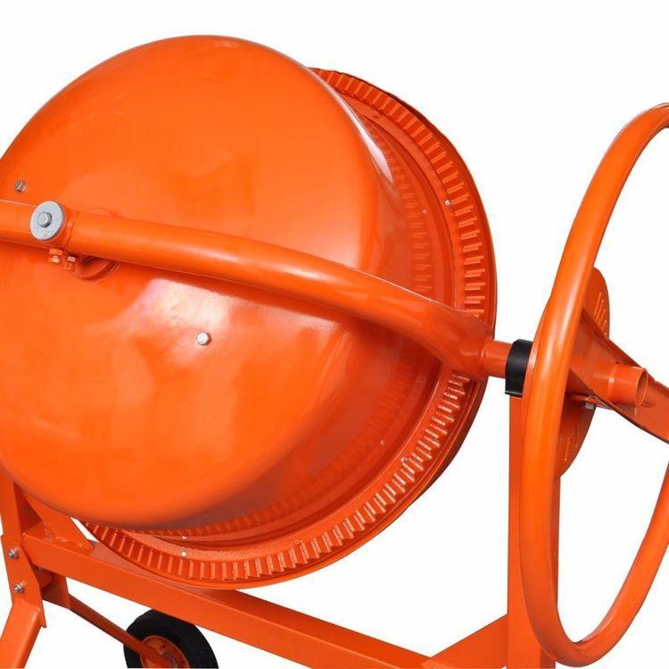 Betoniarka, 140 l, stal, pomarańczowa