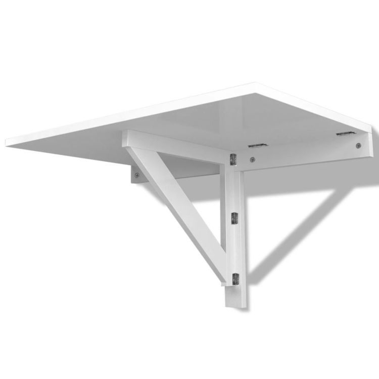 Składany stolik na ścianę biały 100x60 cm
