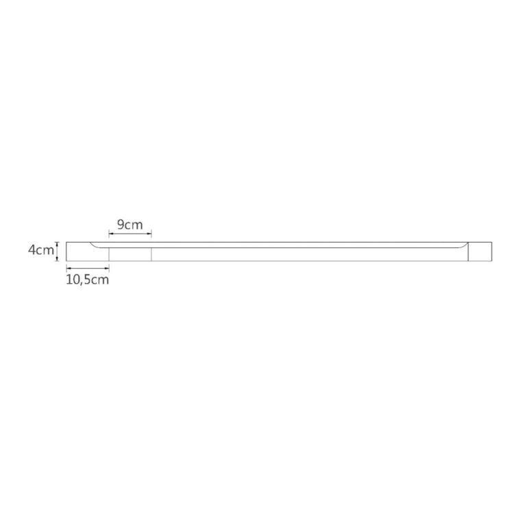 Brodzik czworokątny, ABS, 70 x 90 cm