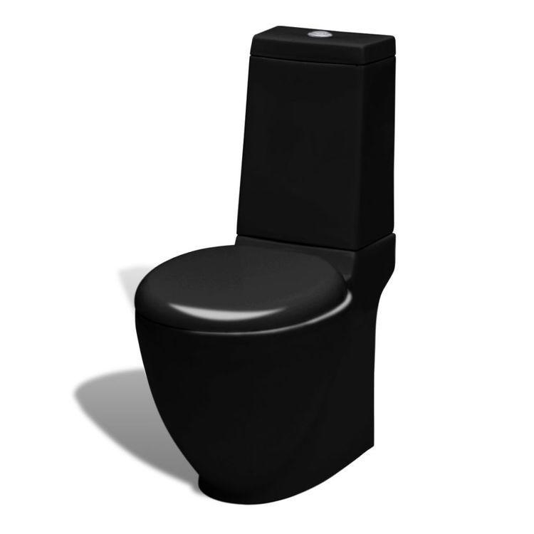 Toaleta ceramiczna, czarna