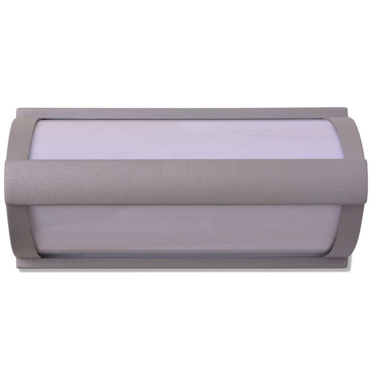 Kinkiet zewnętrzny, aluminium, szary