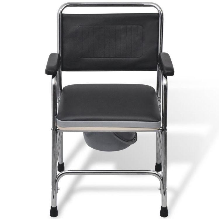 Krzesło toaletowe czarne