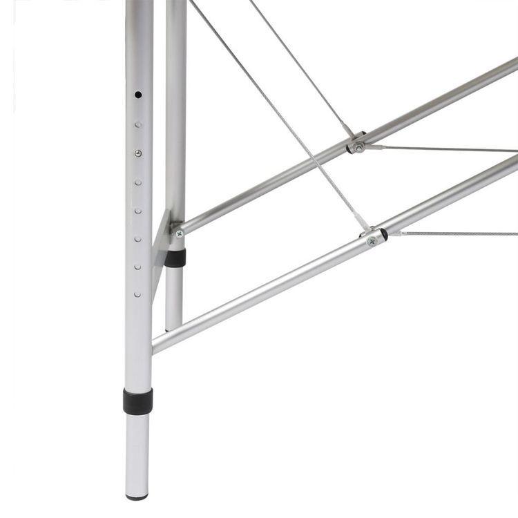 Kremowy składany stół do masażu 3 strefy z aluminiową ramą