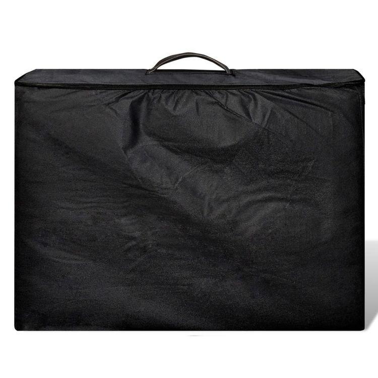 Czarny składany stół do masażu 2 strefy z aluminiową ramą