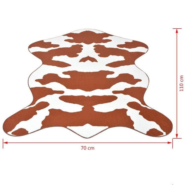 Dywanik 70x110 cm bydlęca skórka w brązowe łatki