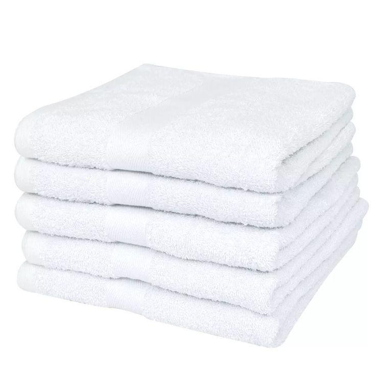 Ręczniki kąpielowe, 25 szt, bawełna 400 g/m², 100x150 cm, białe