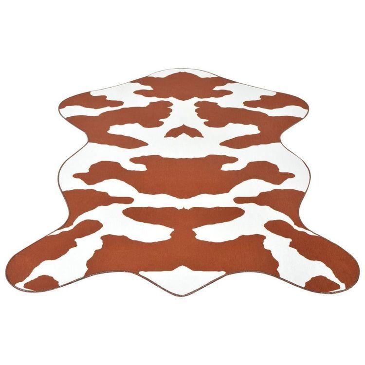 Dywanik w brązowe, krowie łaty, 150x220 cm