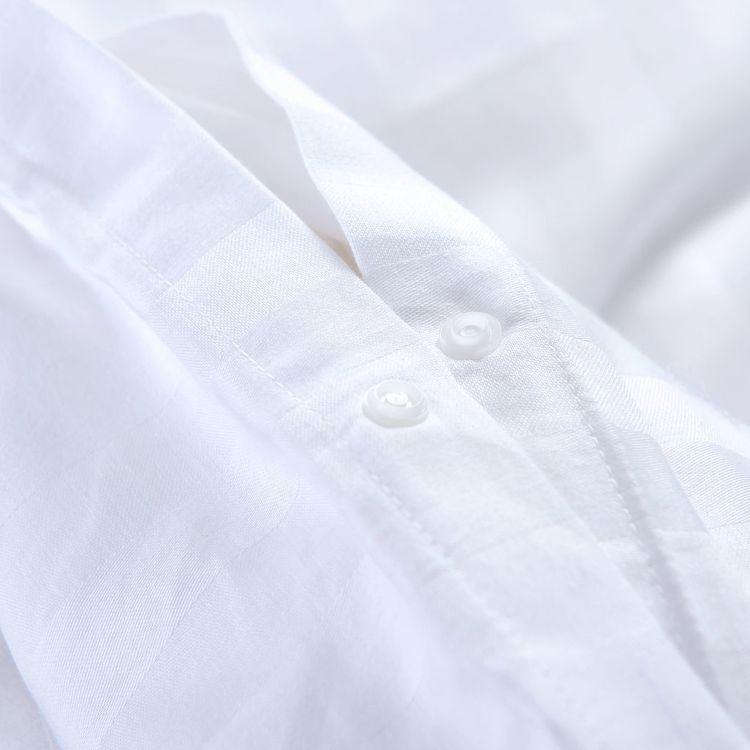 Pościel 2 części, bawełna satynowa, 140x200/60x70 cm, biała