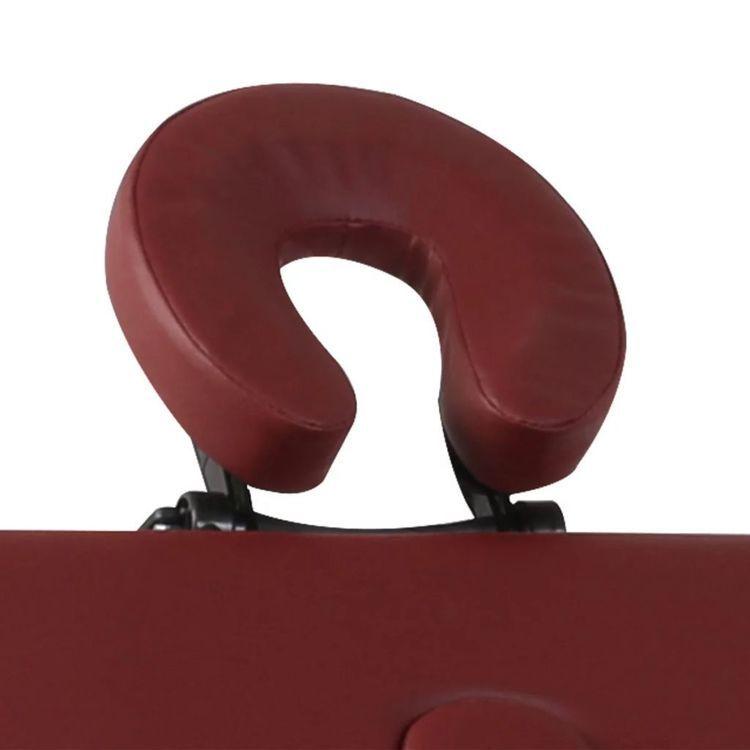 Czerwony składany stół do masażu 3 strefy z drewnianą ramą