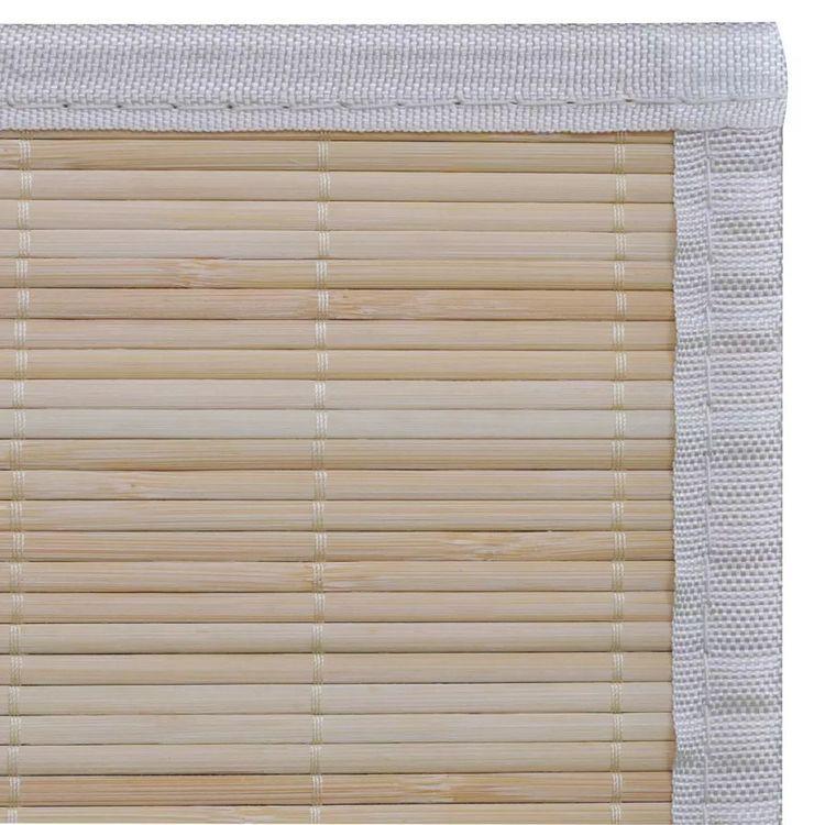Naturalny, prostokątny dywan bambusowy, 80 x 300 cm
