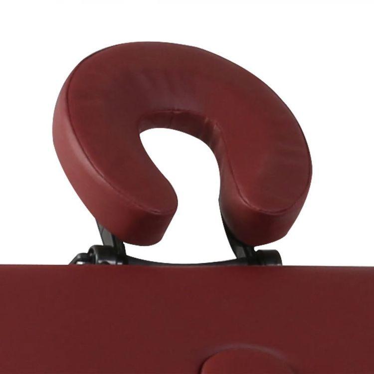 Czerwony składany stół do masażu 4 strefy z drewnianą ramą