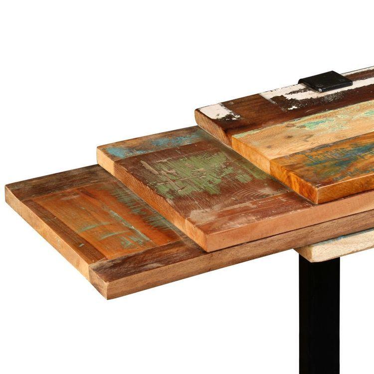 Stolik boczny / konsola z drewna odzyskanego, regulowany