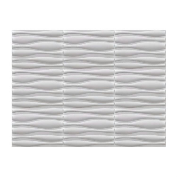 viaXL Panele ścienne 3D, wzór falisty, 0,625 m x 0,8 m, 12 szt., 6 m²