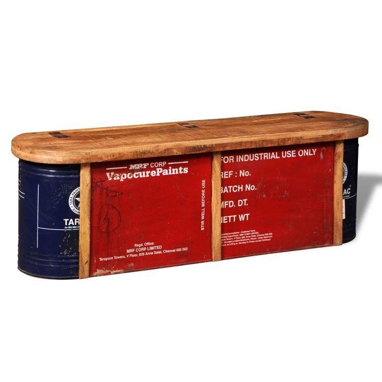 Komoda vintage z drewna z odzysku