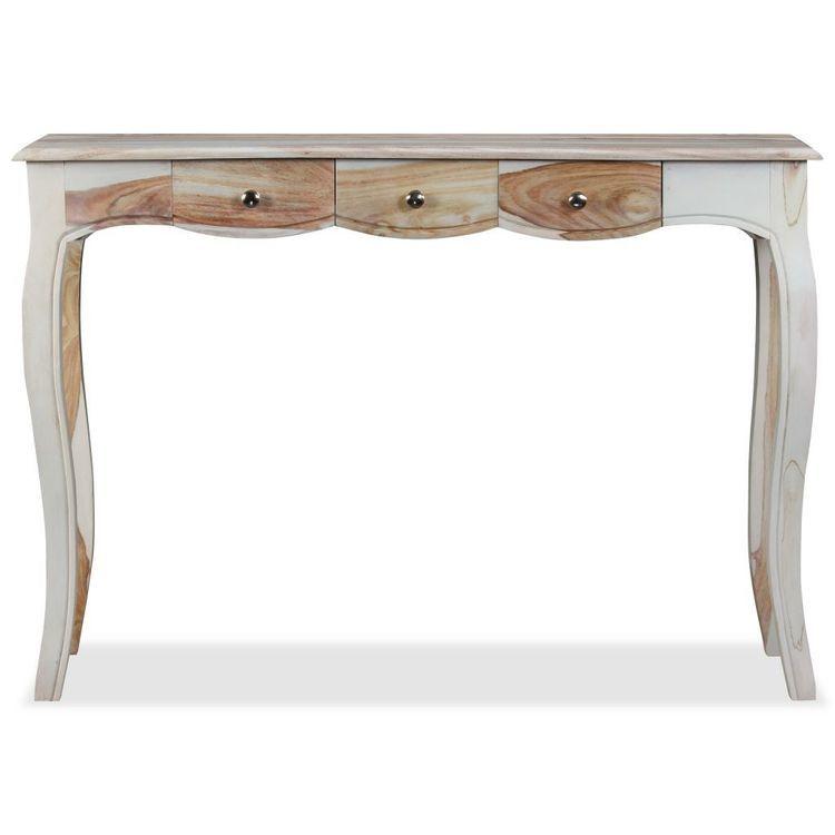 Stolik konsola z 3 szufladami, drewno sheesham, 110x40x76 cm
