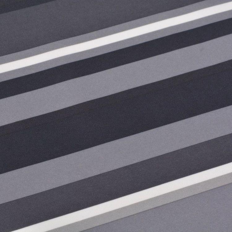 Parawan balkonowy z tkaniny oxford, 90x600 cm, szare paski