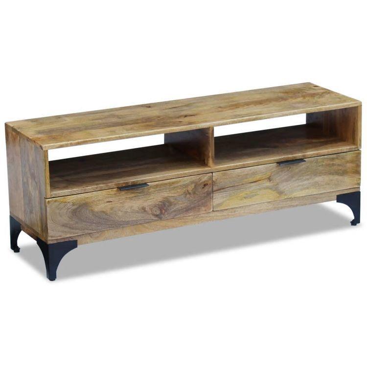 Szafka pod telewizor z drewna mango, 120 x 35 x 45 cm
