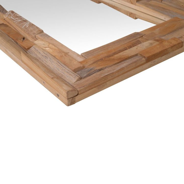 Lustro dekoracyjne, drewno tekowe, 90 x 60 cm, prostokątne