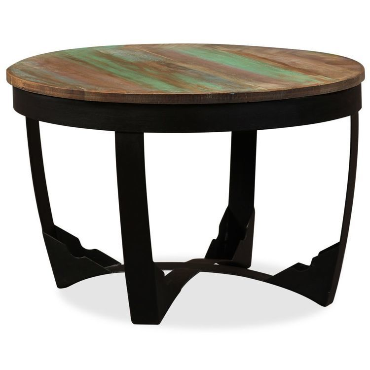 Stolik boczny z litego drewna z odzysku, 60x40 cm