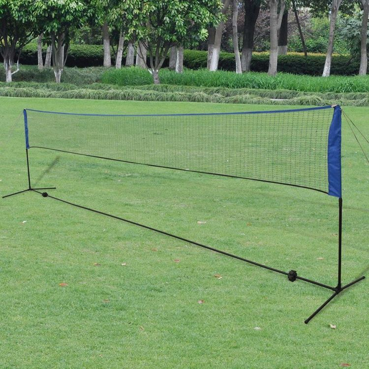 Siatka i lotki do badmintona, 600x155 cm