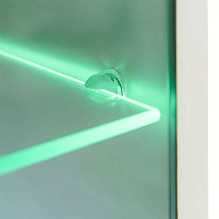 Meble do salonu z szafką pod TV i podświetleniem LED, 5 elementów, białe