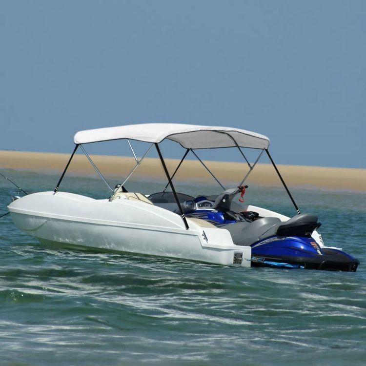 Bimini, daszek do łodzi, 183x140x140 cm, biały
