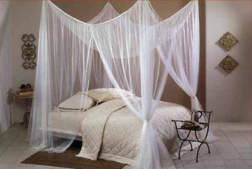 Moskitiera nad łóżko 220x200x210 cm biała