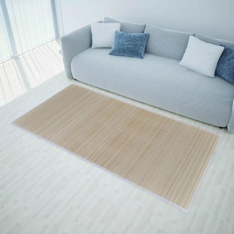 Naturalny, prostokątny dywan bambusowy, 120 x 180 cm