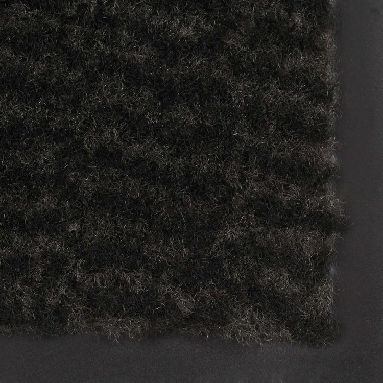 Prostokątna wycieraczka przed drzwi 40 x 60 cm, czarna