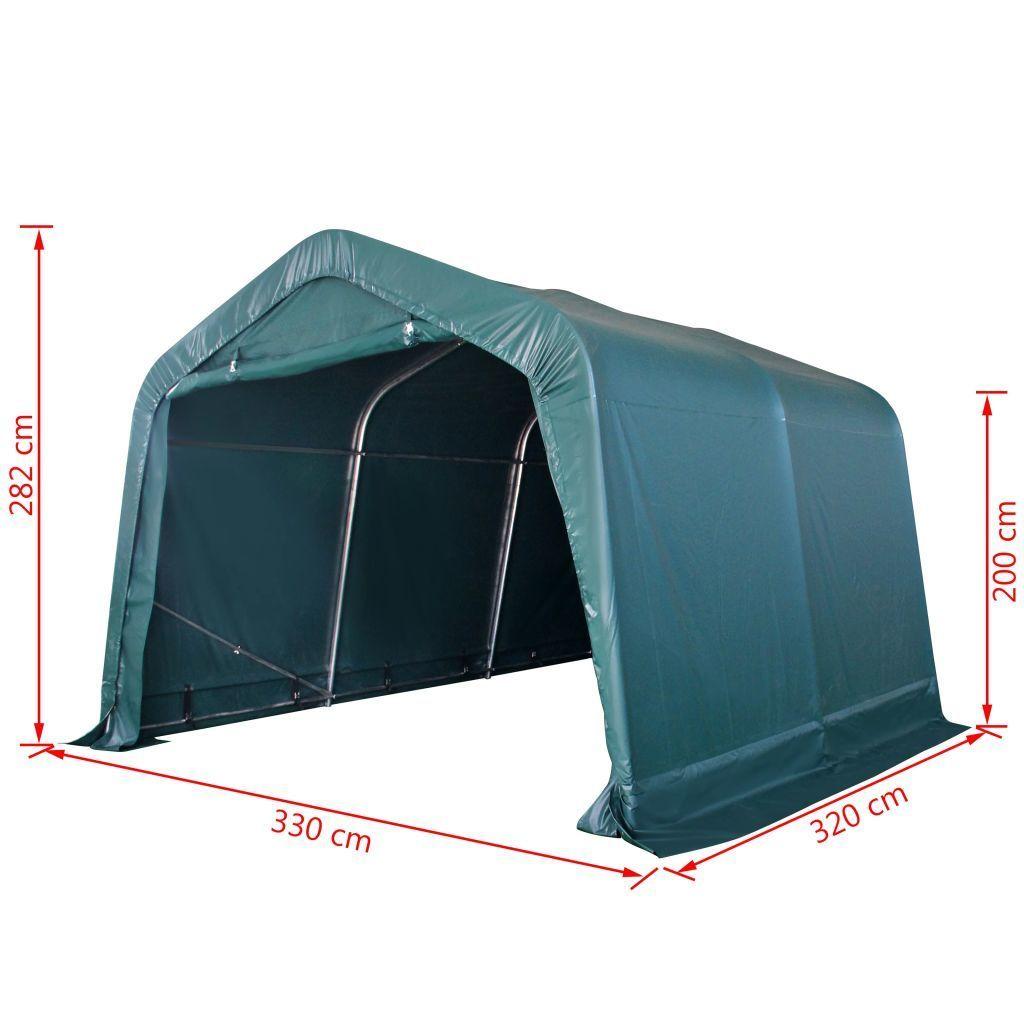 Namiot Dla Bydła, Ruchomy, Pvc, 550 Gm², 3,3 X 3,2 M, Zielony