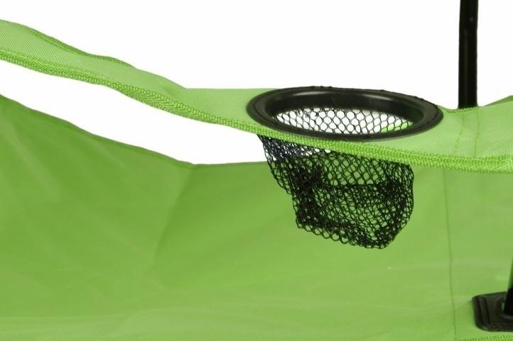 Składane krzesło campingowe do 120 kg Krzesło turystyczne wędkarskie zielone