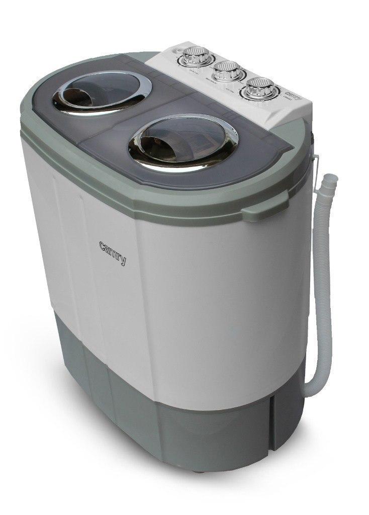 Camry Washing machine CR 8052 Top loading, Washing capacity 3 kg, 1300 RPM, Depth 40 cm, Width 60 cm, White-Grey, w Strefie Komfortu