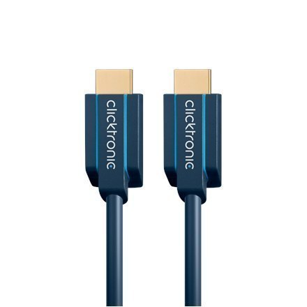 Clicktronic High Speed HDMI cable with Ethernet 70301 1 m, HDMI cable, Blue w Strefie Komfortu