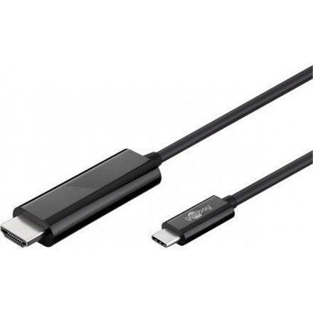 Goobay USB-C HDMI adapter cable (4k 60 Hz) Black, HDMI adapter, 1.8 m w Strefie Komfortu