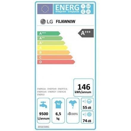 LG Washing Machine F0J6WN0W Front loading, Washing capacity 6.5 kg, 1000 RPM, Direct drive, A+++, Depth 44 cm, Width 60 cm, Whit w Strefie Komfortu