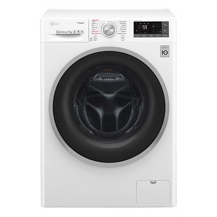 LG Washing machine F2J7HY1W Front loading, Washing capacity 7 kg, 1200 RPM, Direct drive, A+++-10%, Depth 45 cm, Width 60 cm, Wh w Strefie Komfortu