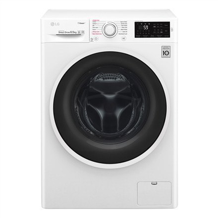 LG Steam washing mashine F4J6TY0W Front loading, Washing capacity 8 kg, 1400 RPM, Direct drive, A+++, Depth 55 cm, Width 60 cm, w Strefie Komfortu