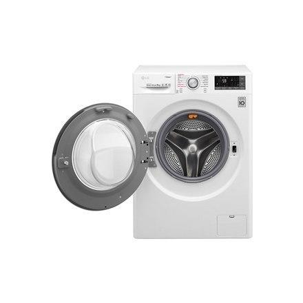 LG TrueSteam washing mashine F4J7TY1W Front loading, Washing capacity 8 kg, 1400 RPM, Direct drive, A+++, Depth 56 cm, Width 60 w Strefie Komfortu